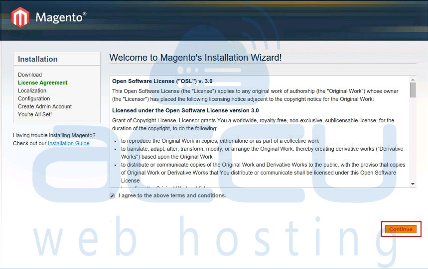 Magento Installation Wizard