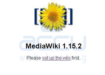 MediaWiki Set up