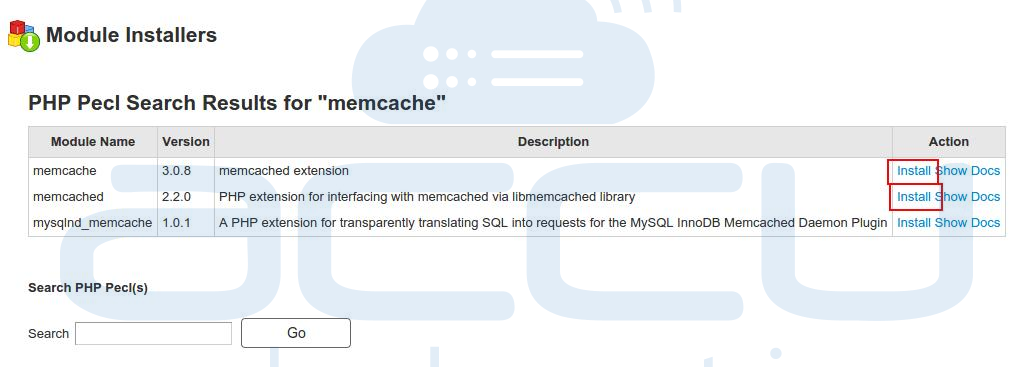 Install Memcache