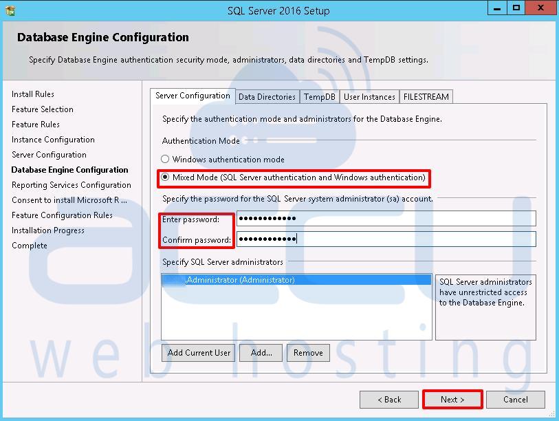Database Server Configuration
