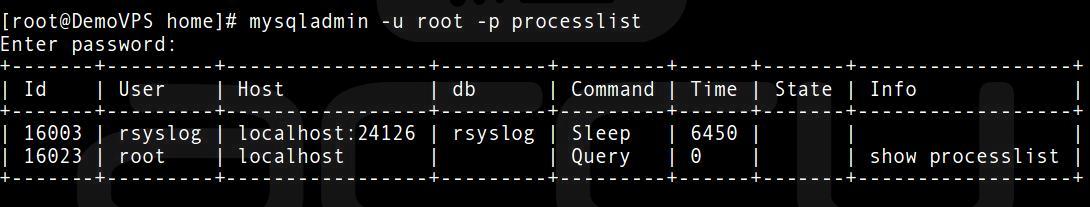 Check All MySQL Server running Process