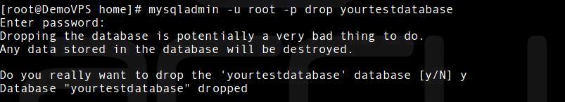 Drop A Database In MySQL Server