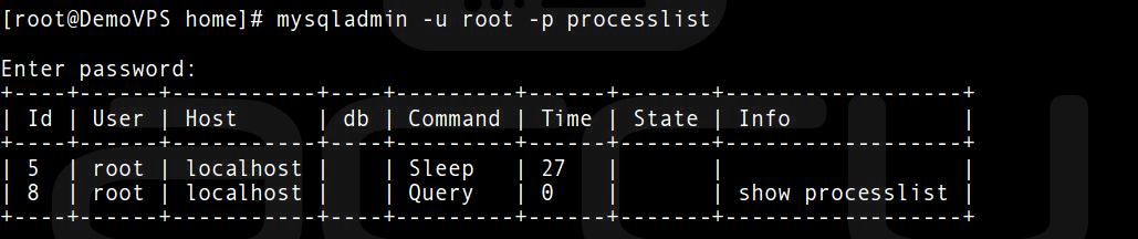 Check Sleeping MySQL Client Process