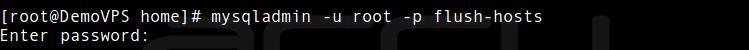 Flush-Hosts In MySQL