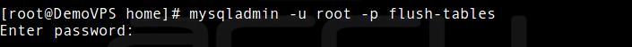 Flush-Tables In MySQL