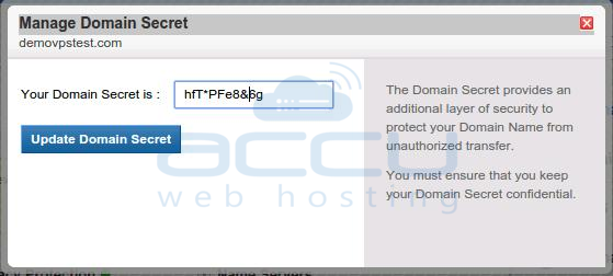 Manage Domain Secret