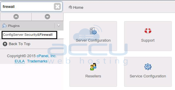 How to Open Ports in WHM Firewall? - Knowledgebase - AccuWebHosting