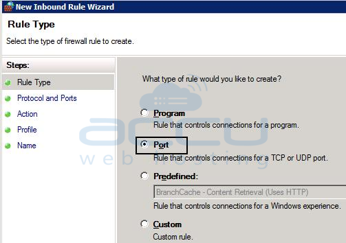 New Inbound Rule Wizard