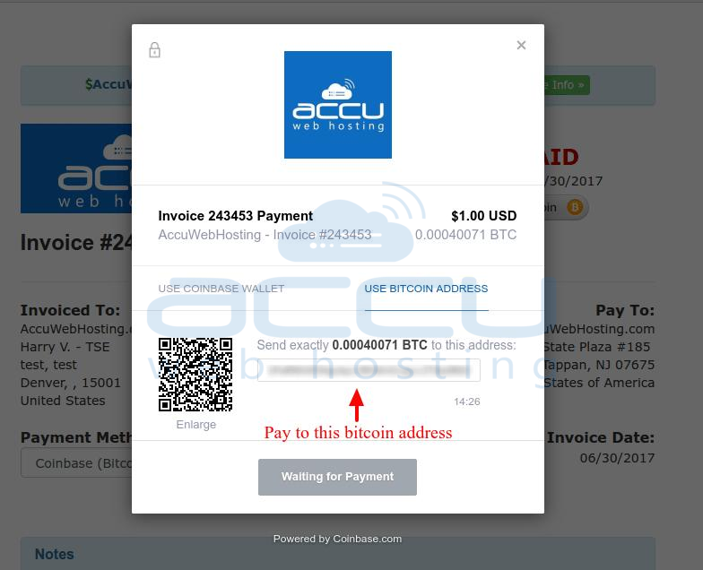 how do i make a payment with bitcoin