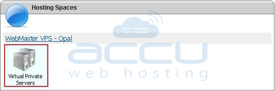 Click on Virtual Private Servers after Logging to VPS Management Portal