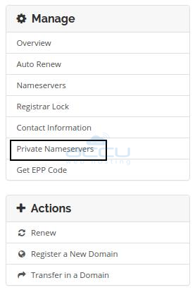 Private Nameservers