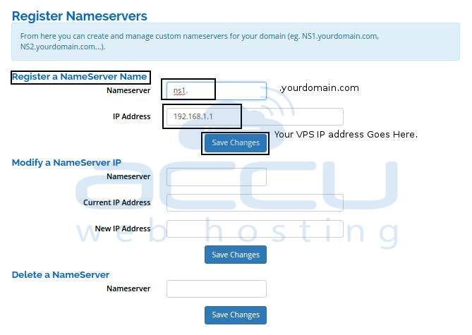 Register Nameservers