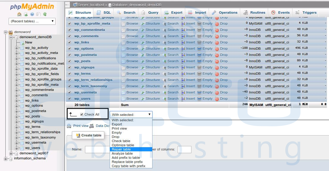 Tremendous How To Repair Mysql Database From Cpanel Whm And Phpmyadmin Best Image Libraries Counlowcountryjoecom