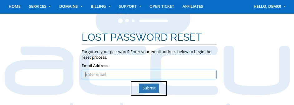 Lost Password Request