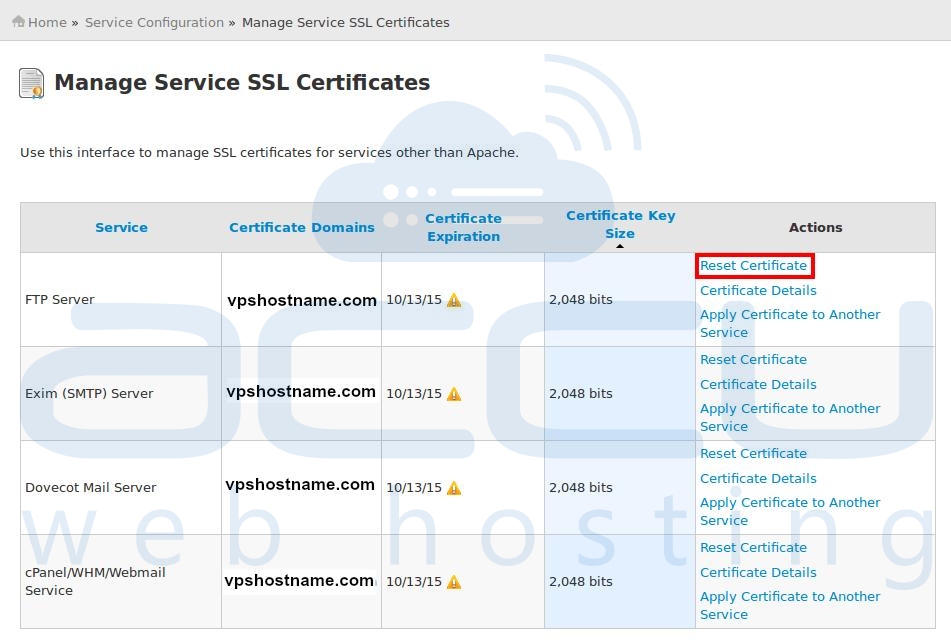 How To Resetrenew Cpanelwhm Self Signed Certificate