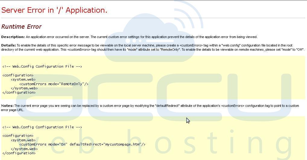 Server Error '/'  in Application in SmarterMail
