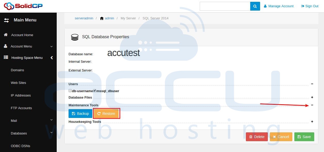 Database Restore
