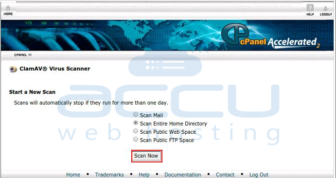 How to run ClamAV virus scan from cPanel? - Knowledgebase