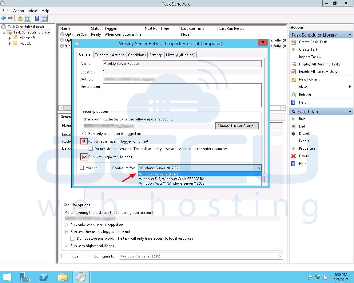 How to schedule reboot of windows server 2012? - Knowledgebase