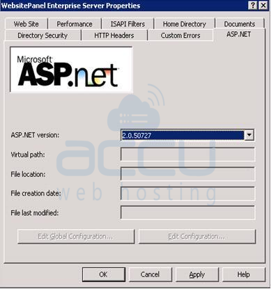 WebsitePanel Enterprise Server Properties
