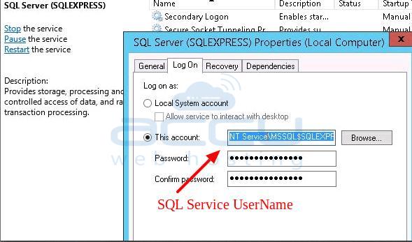 SQL Service Username