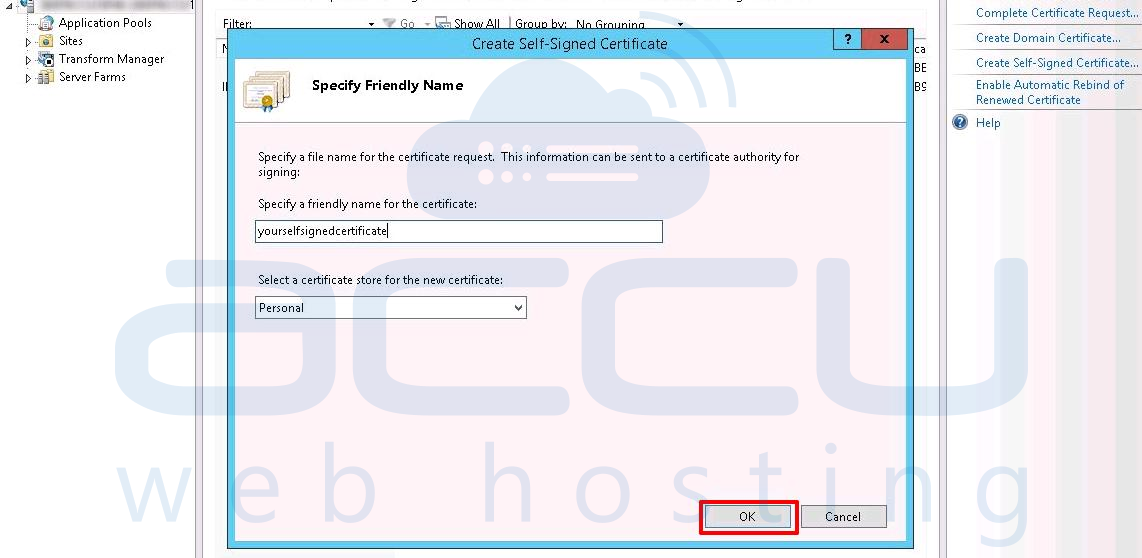 Fix Server Unable To Load User Specified Certificate The Server