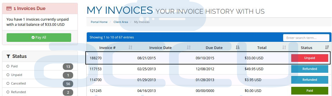 List Invoices