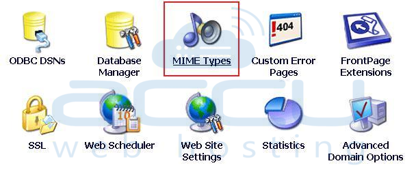 Select MIME Types Option