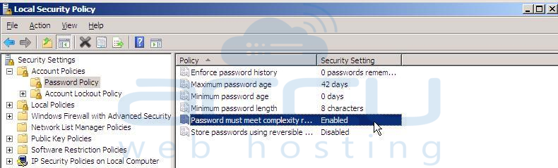 Go to Password Policy Under Group Policy Editor