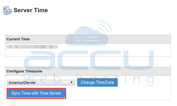 Sync Server Time