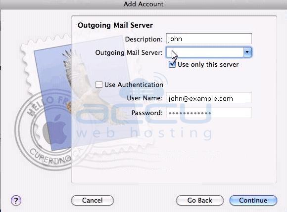 Setup Outgoing Mail Server