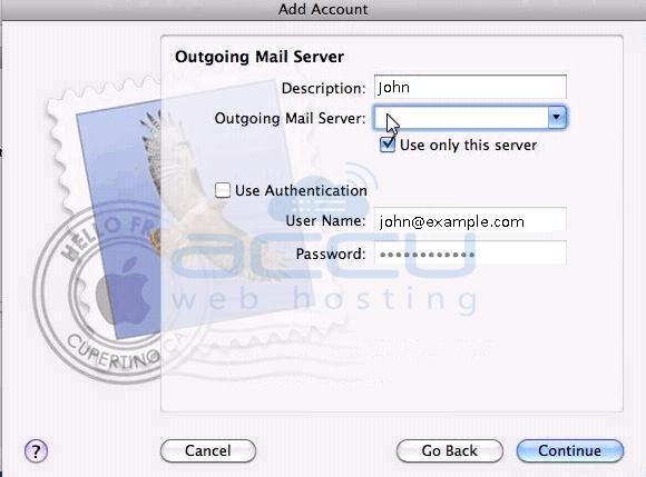 Setup Outgoing Mail Server