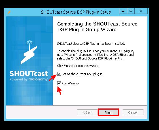 Finish Install