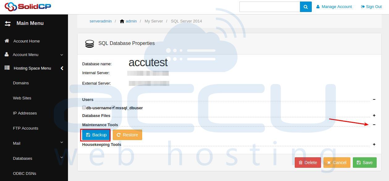 Database Backup