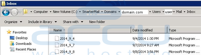 Go to Domain Name Folder under C: Drive