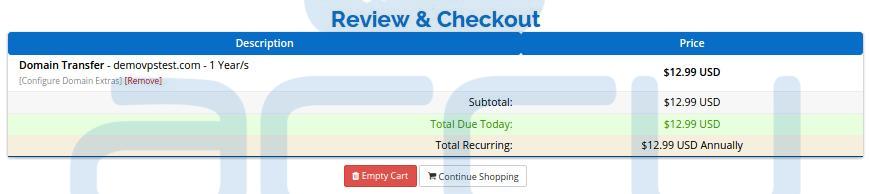 Review Checkout