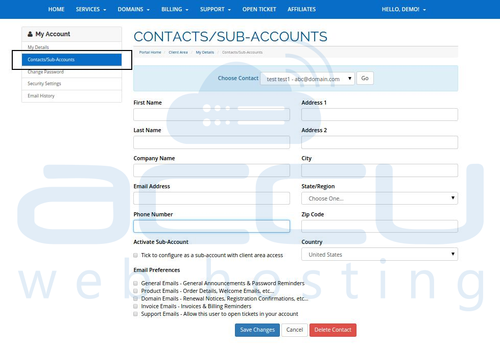Add a Sub-Account in Your Billing Account