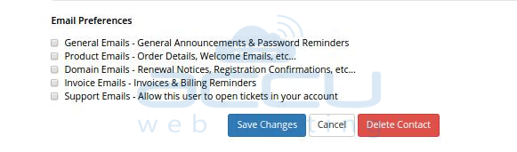 Set Email Preferences for a Sub-Account