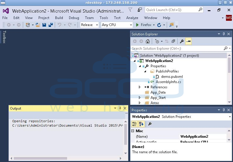 How to Deploy Visual Studio 2015 Web Application Using Web